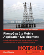 Cover of PhoneGap 3.x Mobile Application Development HOTSHOT