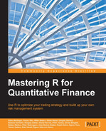 Book cover for Mastering R for Quantitative Finance