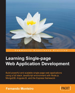 Cover of Learning Single-page Web Application Development