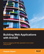 Book cover for Building Web Applications with ArcGIS