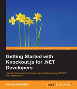 Cover of Getting Started with Knockout.js for .NET Developers