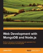 Cover of Web Development with MongoDB and Node.js