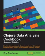 Book cover for Clojure Data Analysis Cookbook - Second Edition