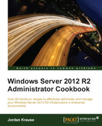 Cover of Windows Server 2012 R2 Administrator Cookbook