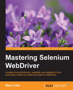 Cover of Mastering Selenium WebDriver