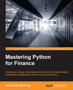 Cover of Mastering Python for Finance