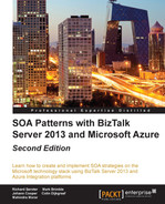 Book cover for SOA Patterns with BizTalk Server 2013 and Microsoft Azure - Second Edition