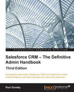 Book cover for Salesforce CRM – The Definitive Admin Handbook - Third Edition