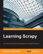 Cover of Learning Scrapy