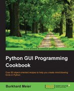 Cover of Python GUI Programming Cookbook
