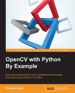Cover of OpenCV with Python By Example