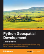Cover of Python Geospatial Development - Third Edition