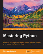 Cover of Mastering Python