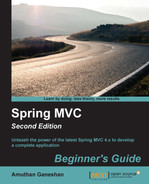 Cover of Spring MVC Beginner's Guide - Second Edition