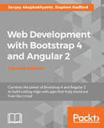 Cover of Web Development with Bootstrap 4 and Angular 2 - Second Edition