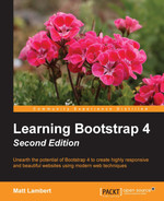 Cover of Learning Bootstrap 4 - Second Edition