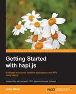 Cover of Getting Started with hapi.js