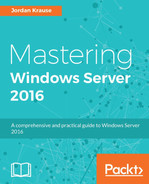 Cover of Mastering Windows Server 2016