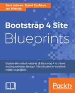 Cover of Bootstrap 4 Site Blueprints