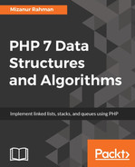 Cover of PHP 7 Data Structures and Algorithms