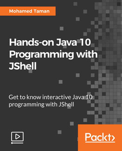 Hands-on Java 10 Programming with JShell