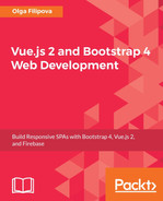 Cover of Vue.js 2 and Bootstrap 4 Web Development