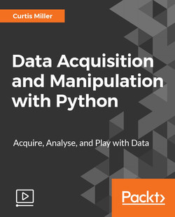 Data Acquisition and Manipulation with Python