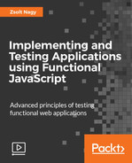 Cover of Implementing and Testing Applications using Functional JavaScript