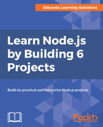 Cover of Learn Node.js by Building 6 Projects.
