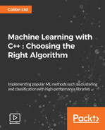 Cover of Machine Learning with C++ : Choosing the Right Algorithm