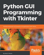 Cover of Python GUI Programming with Tkinter