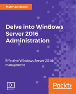 Cover of Delve into Windows Server 2016 Administration