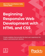 Cover of Beginning Responsive Web Development with HTML and CSS