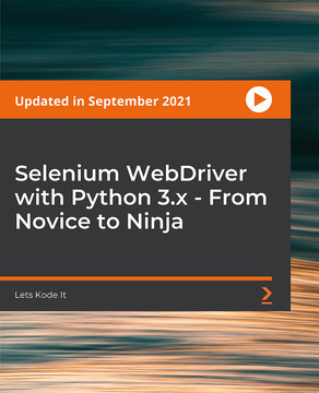 Selenium WebDriver With Python 3.x - Novice To Ninja