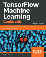 Cover of TensorFlow Machine Learning Cookbook - Second Edition