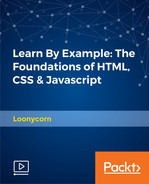 Cover of Learn By Example: The Foundations of HTML, CSS & Javascript
