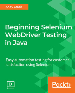 Beginning Selenium WebDriver Testing in Java