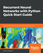 Cover of Recurrent Neural Networks with Python Quick Start Guide