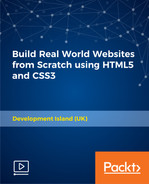 Cover of Build Real World Websites from Scratch using HTML5 and CSS3