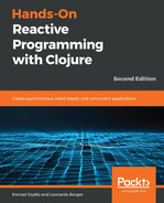Cover of Hands-On Reactive Programming with Clojure - Second Edition
