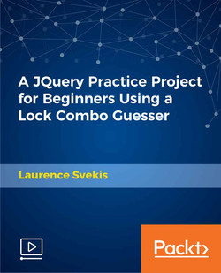 A JQuery Practice Project for Beginners Using a Lock Combo Guesser