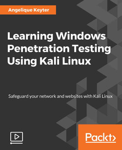 Learning Windows Penetration Testing Using Kali Linux