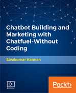Cover of Chatbot Building and Marketing with Chatfuel-Without Coding