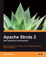 Cover of Apache Struts 2 Web Application Development