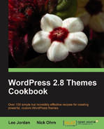 Cover of WordPress 2.8 Themes Cookbook