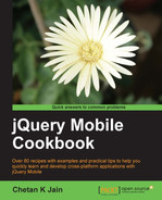 Cover of jQuery Mobile Cookbook