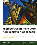 Cover of Microsoft SharePoint 2010 Administration Cookbook