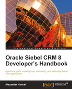 Cover of Oracle Siebel CRM 8 Developer's Handbook