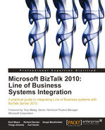 Cover of Microsoft BizTalk 2010: Line of Business Systems Integration