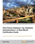 Cover of OCA Oracle Database 11g: Database Administration I: A Real-World Certification Guide